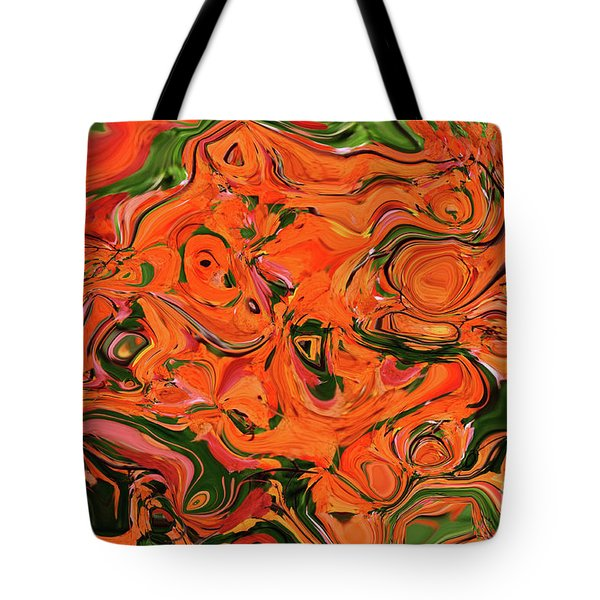 The Abstract Days Of Autumn Tote Bag by Andee Design