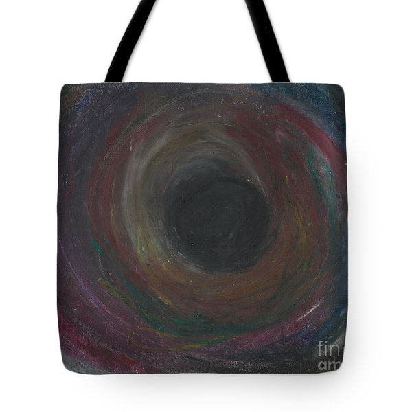 Tote Bag featuring the pastel The Abyss  by Ania M Milo