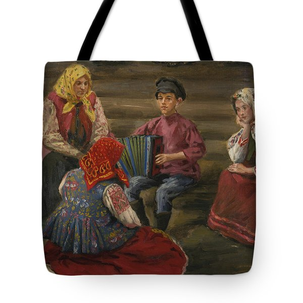 The Accordion Player Tote Bag by Celestial Images