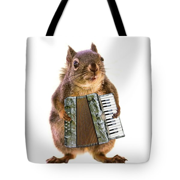 The Accordion Player Tote Bag