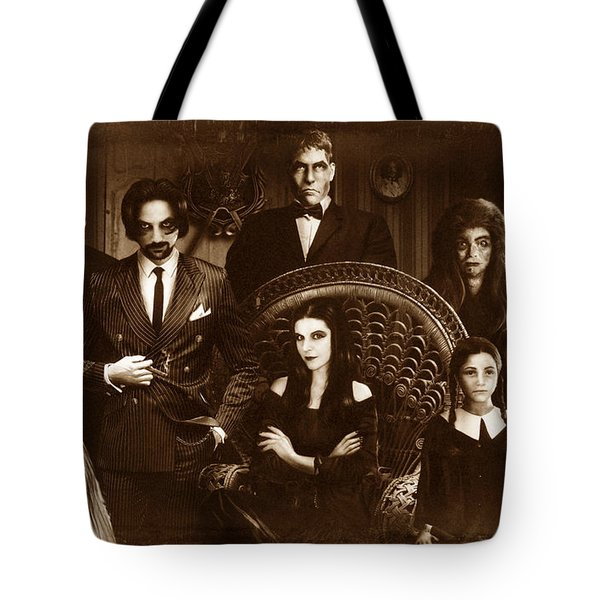 The Addams Family Sepia Version Tote Bag