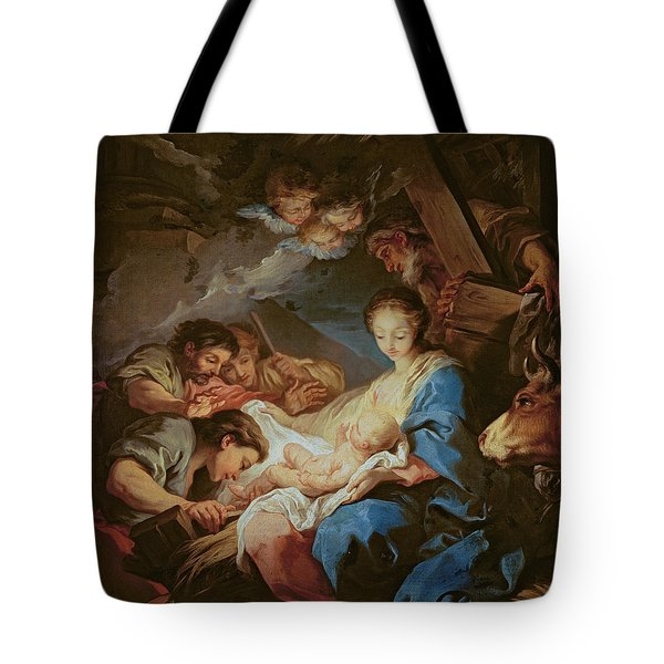 The Adoration Of The Shepherds Tote Bag by Charle van Loo