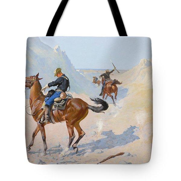 The Advance Guard Or The Military Sacrifice  The Ambush Tote Bag