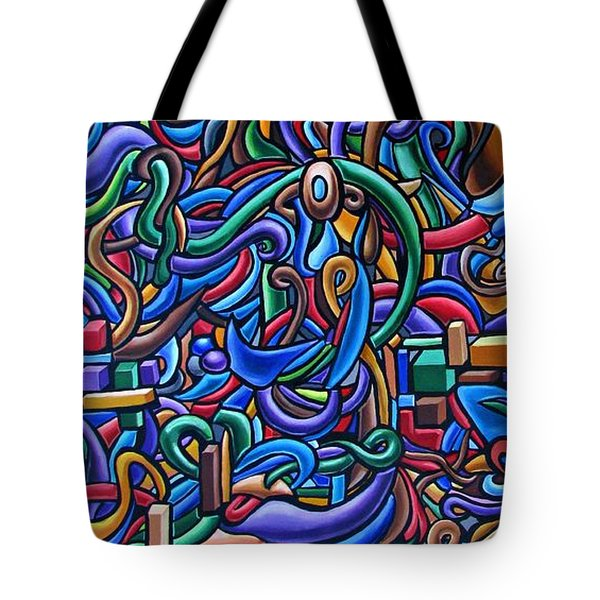 The After Party, Another Party - Chromatic Abstract Painting - Ai P. Nilson Tote Bag