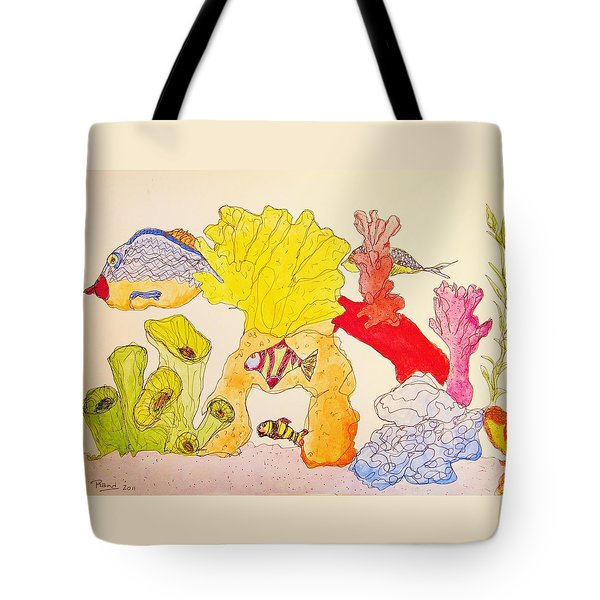 Tote Bag featuring the painting The Age Of Aquarium by Rand Swift