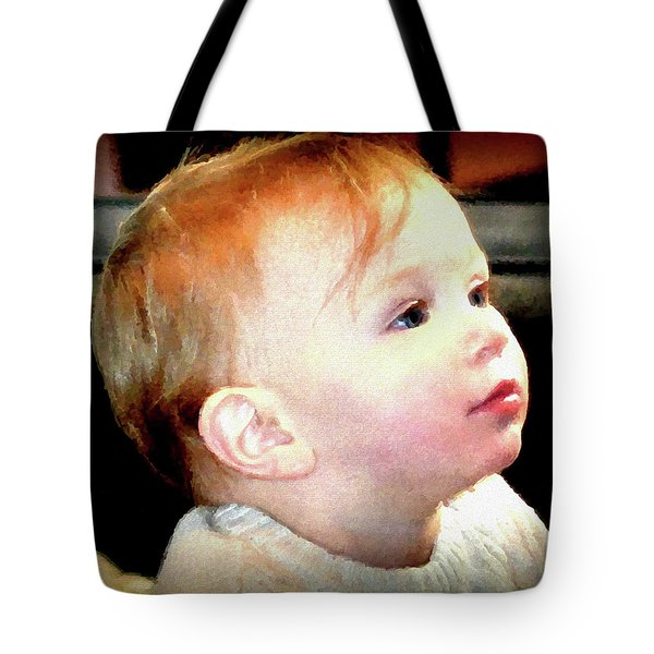 Tote Bag featuring the photograph The Age Of Innocence by Barbara Dudley