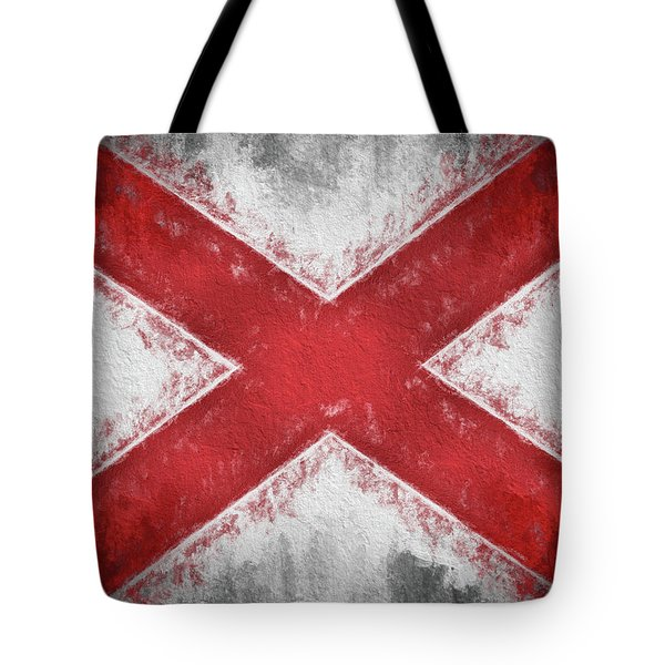 Tote Bag featuring the digital art The Alabama Flag by JC Findley