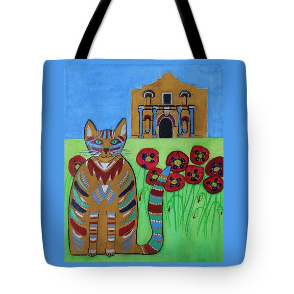 the Alamo Cat Tote Bag