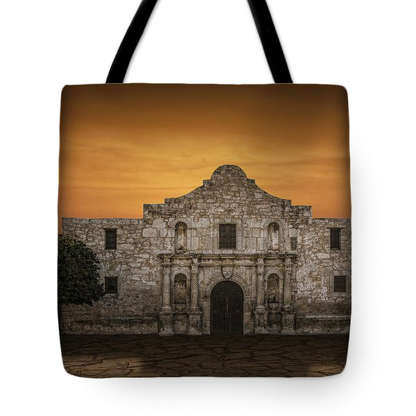 The Alamo Mission In San Antonio Tote Bag by Randall Nyhof