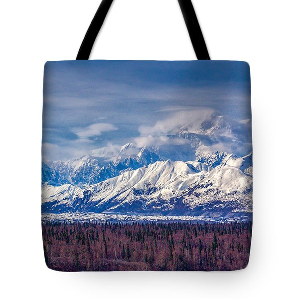 Tote Bag featuring the photograph The Alaska Range At Mount Mckinley Alaska by Michael Rogers