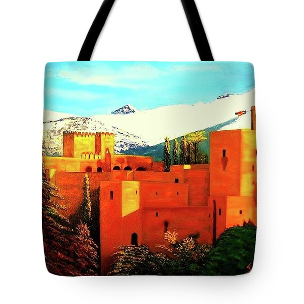 The Alhambra Of Granada Tote Bag