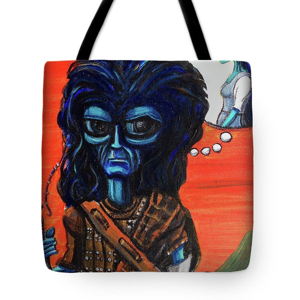The Alien Braveheart Tote Bag