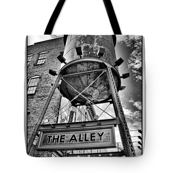 Tote Bag featuring the digital art The Alley  by Greg Sharpe