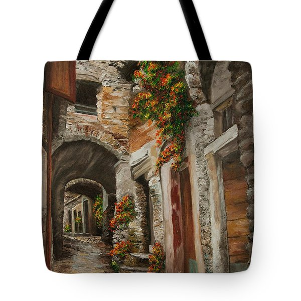 The Alleyway Tote Bag by Charlotte Blanchard
