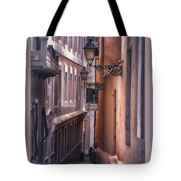 The Alleyways Of San Juan Tote Bag by Mary Lou Chmura