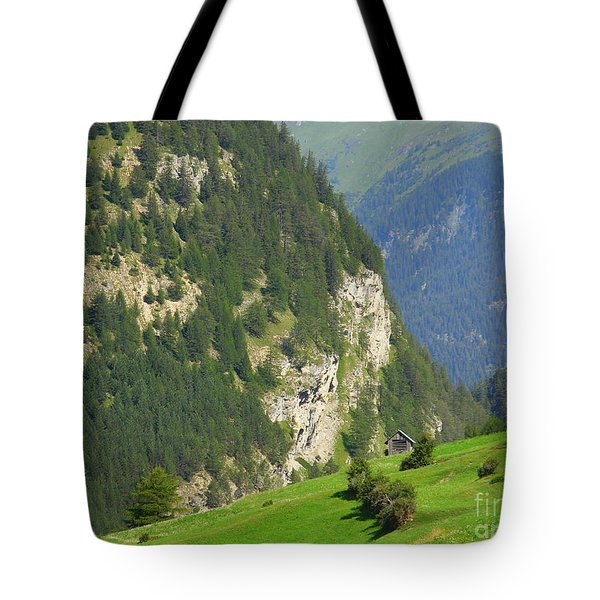 The Alps In Spring Tote Bag