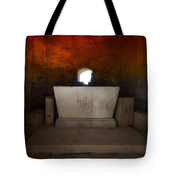 Tote Bag featuring the photograph The Altar - L'altare by Enrico Pelos