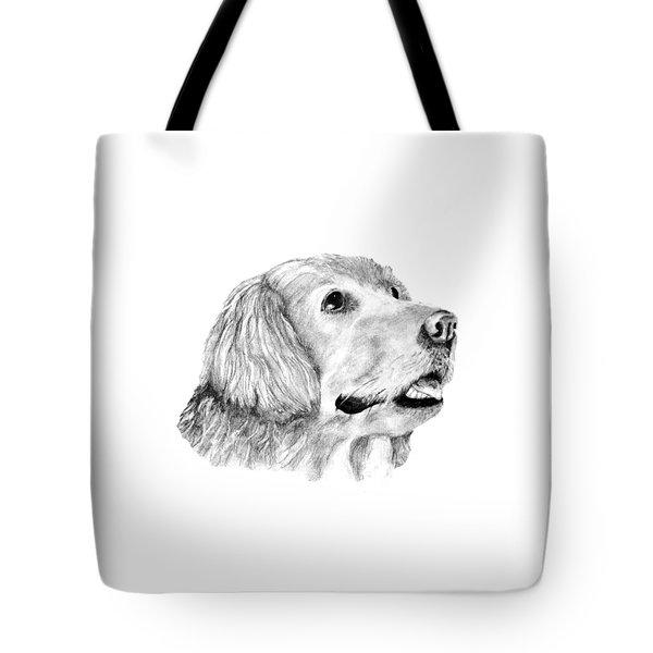 Tote Bag featuring the drawing The Amanda Look by John Stuart Webbstock