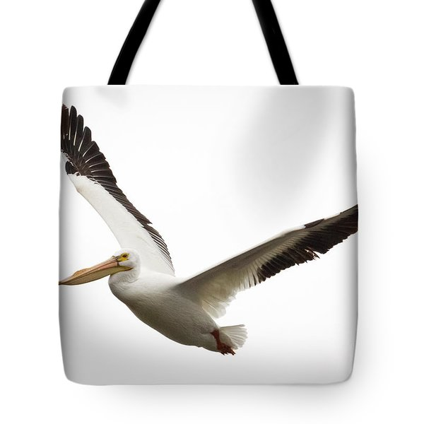 The Amazing American White Pelican Tote Bag by Ricky L Jones