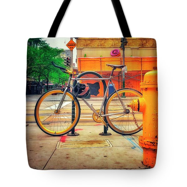 Tote Bag featuring the photograph The American Darling Bicycle by Craig J Satterlee