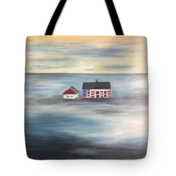 Tote Bag featuring the painting The American Dream And Climate Change by Barbara Anna Knauf