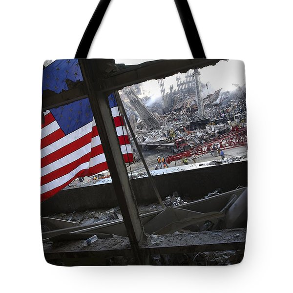 The American Flag Is Prominent Amongst Tote Bag by Stocktrek Images