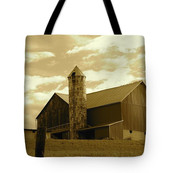 The Amish Silo Barn Tote Bag