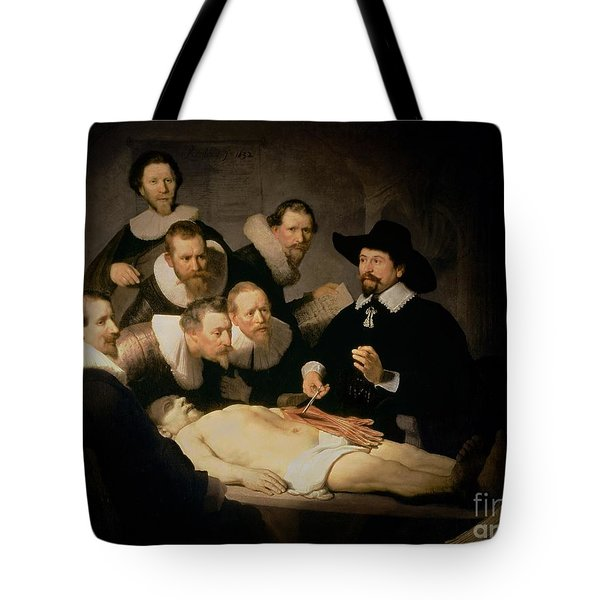 The Anatomy Lesson Of Doctor Nicolaes Tulp Tote Bag