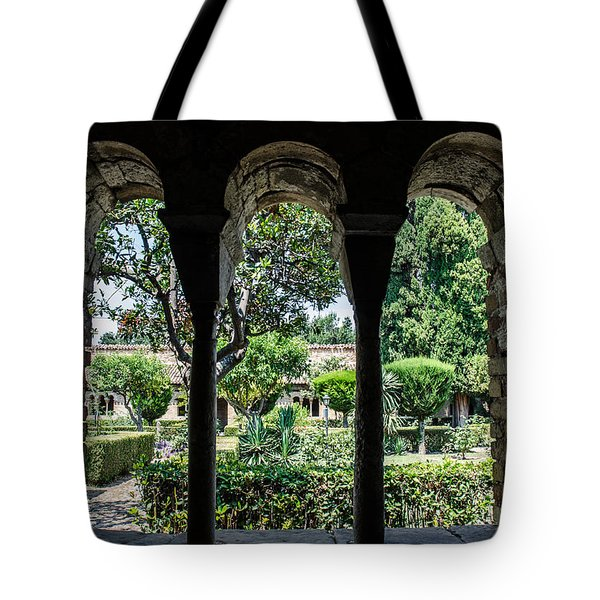 The Ancient Cloister Tote Bag
