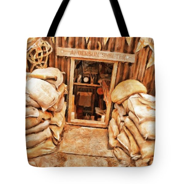The Anderson Shelter By Sarah Kirk Tote Bag
