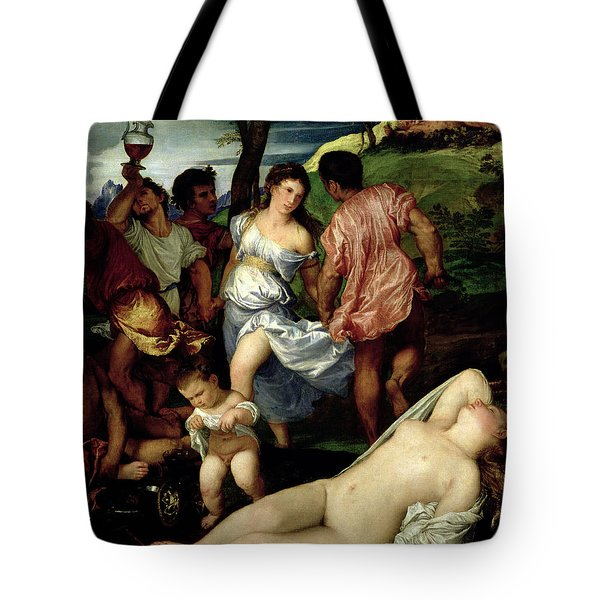 The Andrians Tote Bag by Titian
