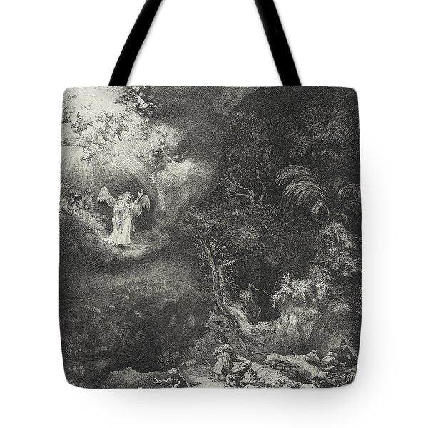 The Angel Appearing To The Shepherds Tote Bag