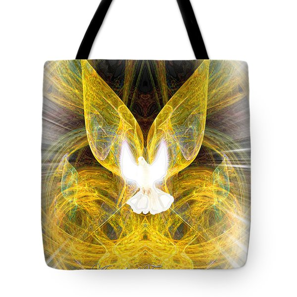 The Angel Of Forgiveness Tote Bag