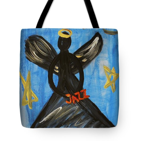 The Angel Of Jazz Tote Bag by Mary Carol Williams