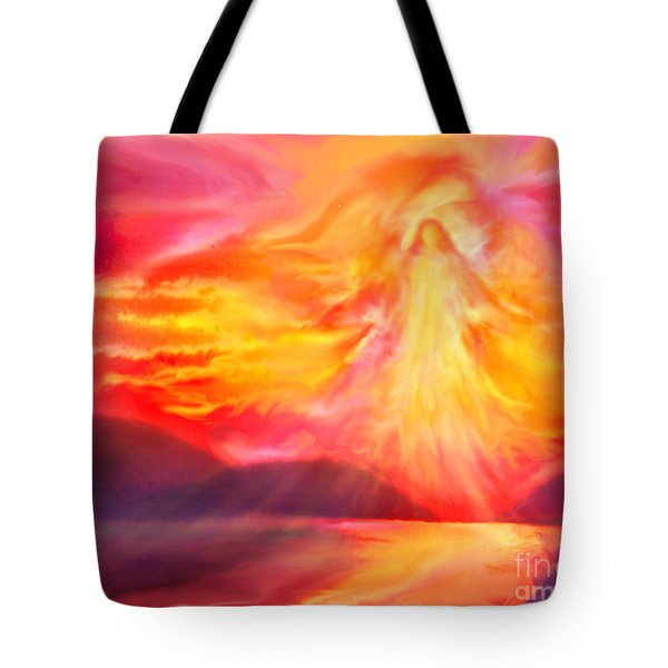The Angel Of Protection Tote Bag