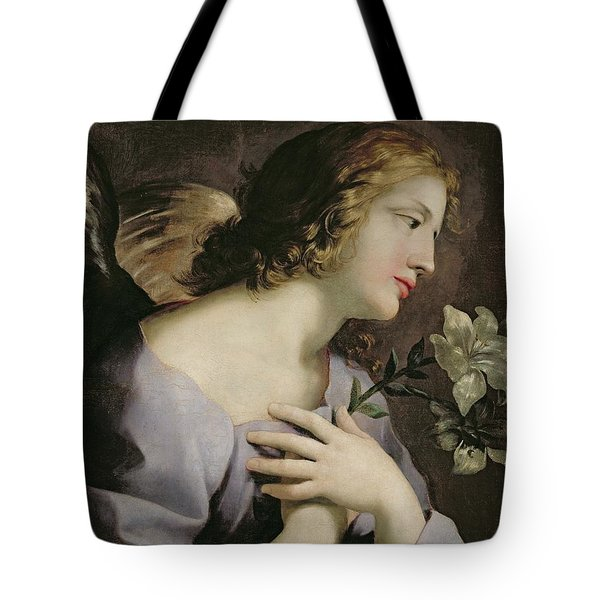 The Angel Of The Annunciation Tote Bag by Giovanni Francesco Romanelli