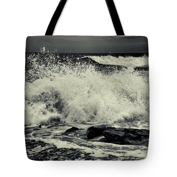 The Angry Sea Tote Bag
