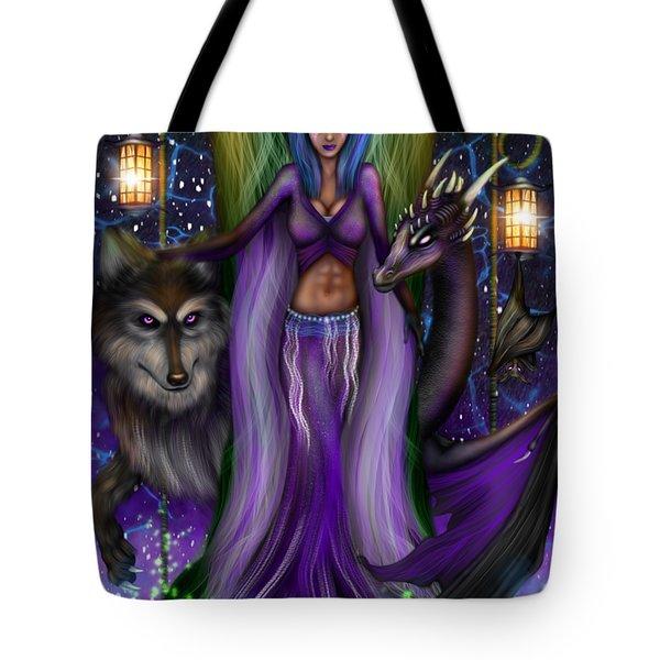 The Animal Goddess Fantasy Art Tote Bag