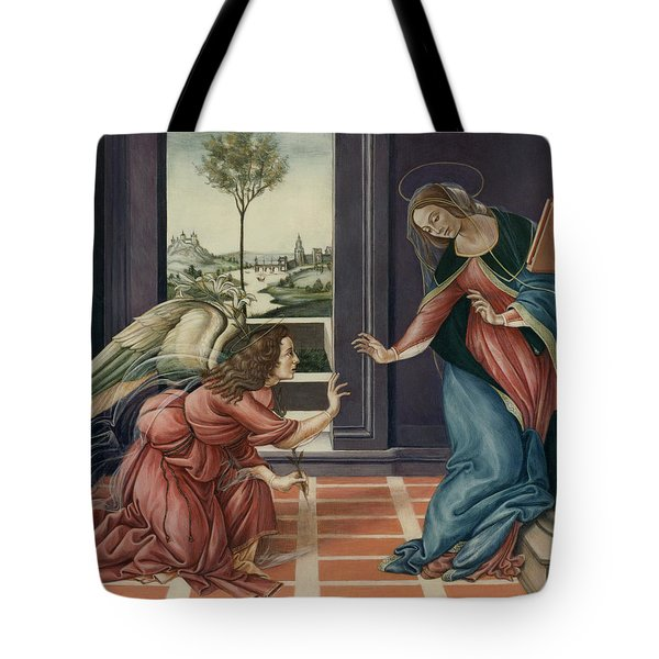 The Annunciation After Botticelli Tote Bag by Yvonne Wright