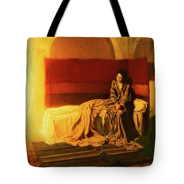 Tote Bag featuring the painting The Annunciation by Henry Ossawa Tanner