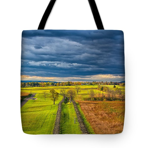 The Antietam Battlefield Tote Bag by John M Bailey