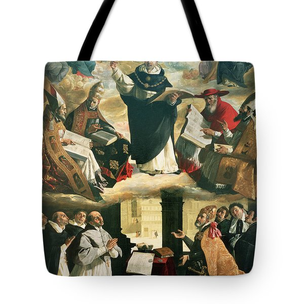 The Apotheosis Of Saint Thomas Aquinas Tote Bag
