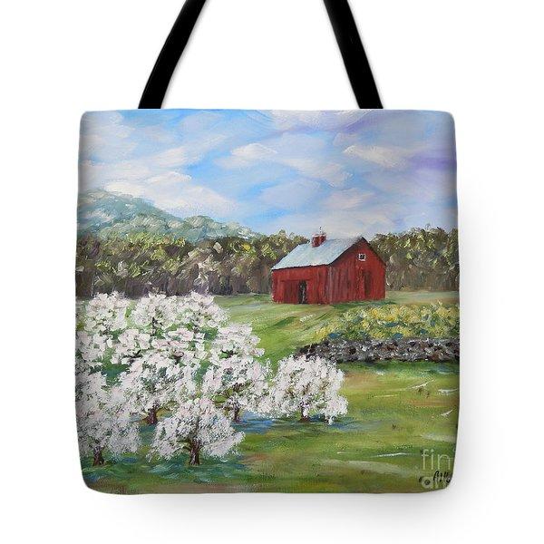 The Apple Farm Tote Bag by Stanton Allaben