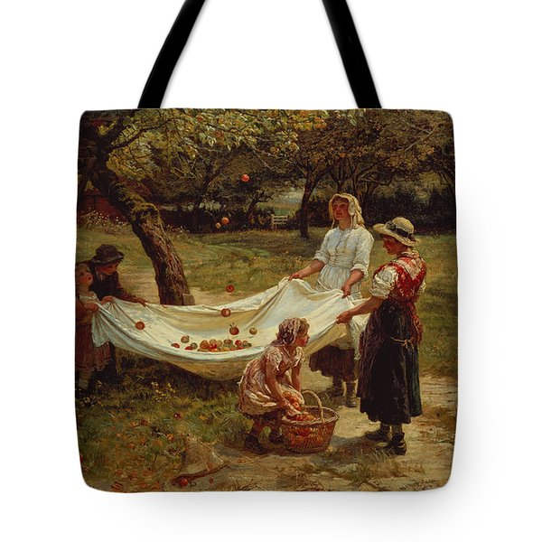 The Apple Gatherers Tote Bag