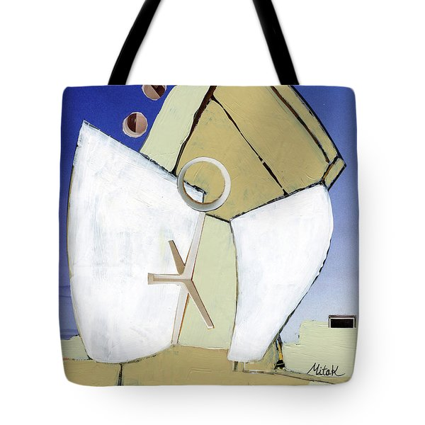 Tote Bag featuring the painting The Arc by Michal Mitak Mahgerefteh