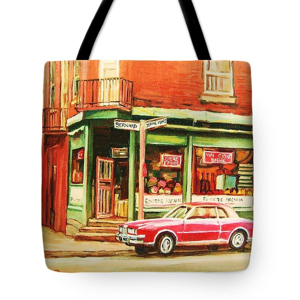 The Arcadia Five And Dime Store Tote Bag by Carole Spandau