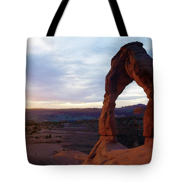 Tote Bag featuring the photograph The Arch by Artistic Panda