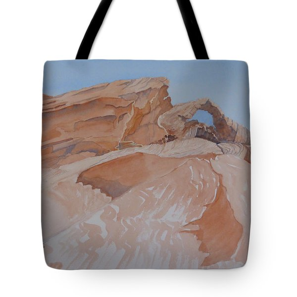 Tote Bag featuring the painting The Arch Rock Experiment - Vi by Joel Deutsch