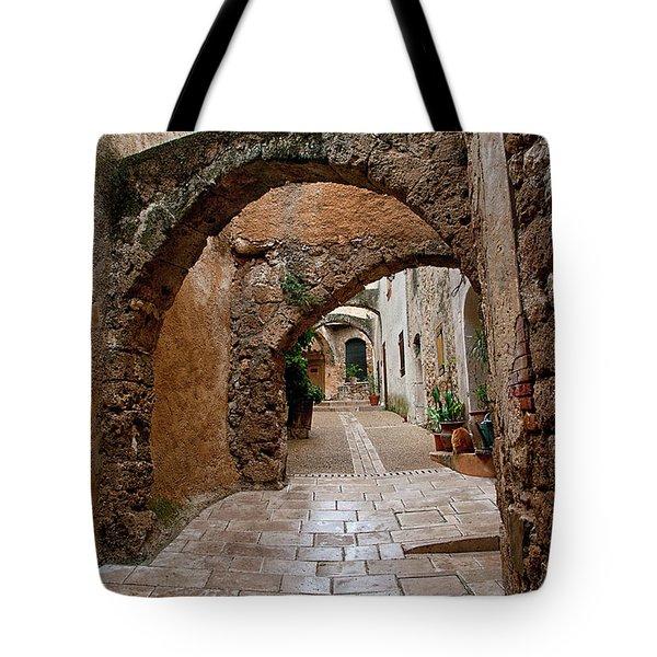 The Archways Of Villecroz Tote Bag