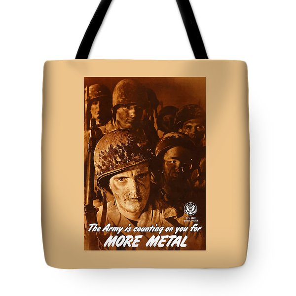 The Army Is Counting On You  Tote Bag